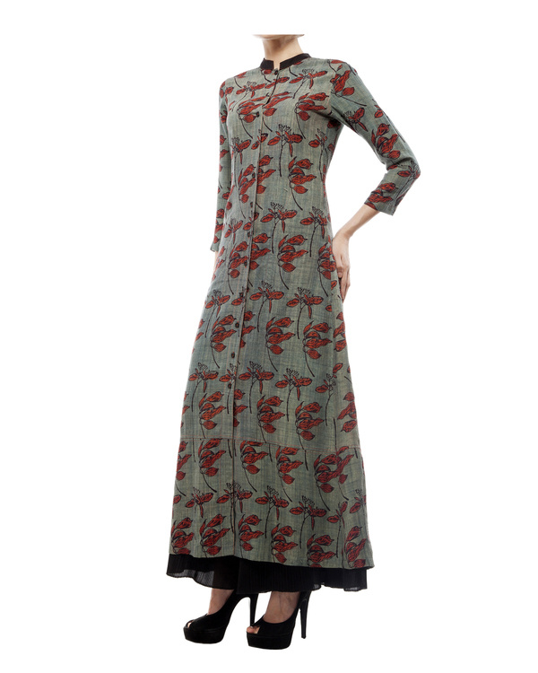 Leaf print long tunic 1