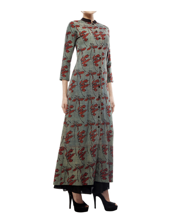 Leaf print long tunic 2