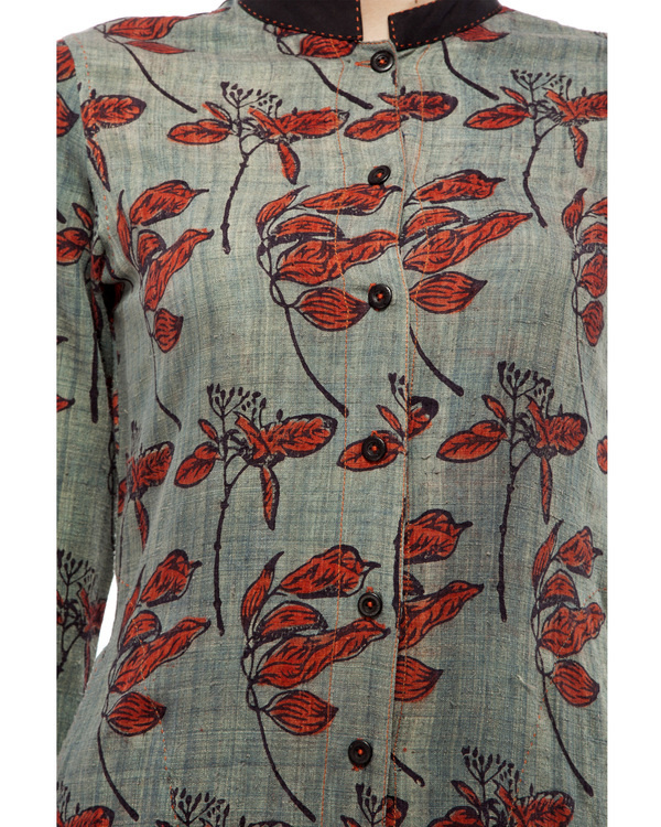 Leaf print long tunic 4