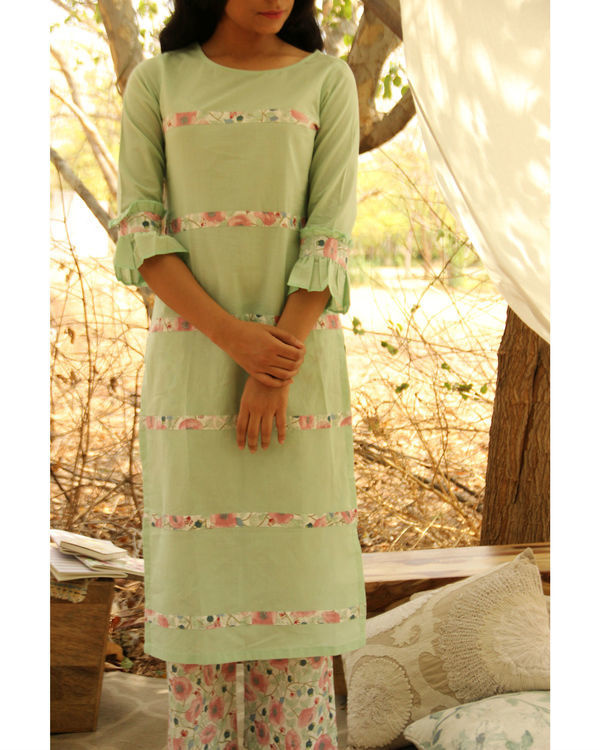 Mint Flush Kurta Set 1