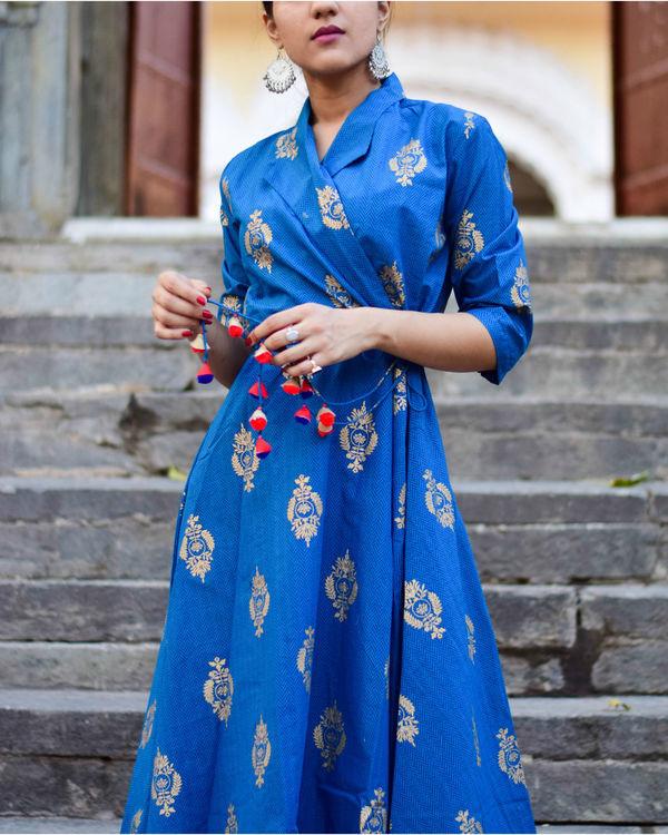 Royal Blue Wrap Dress 1