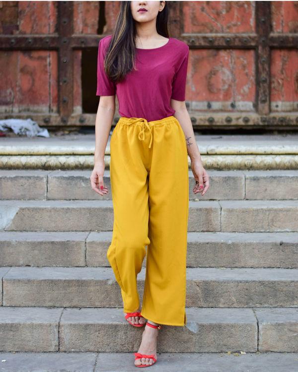 Plain Mustard Pants 1