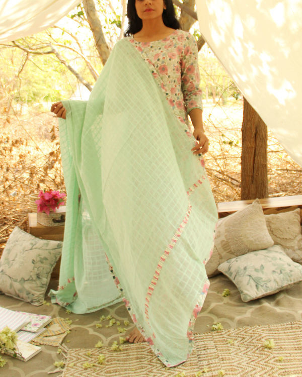Mint Green Verdant Kurta Dupatta Set 1