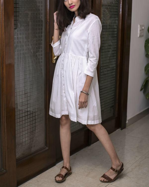 Plain White Summer Dress 2