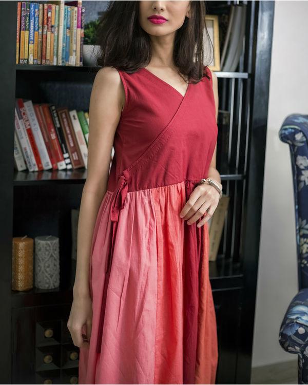 Multi Shade Red Summer Dress 2