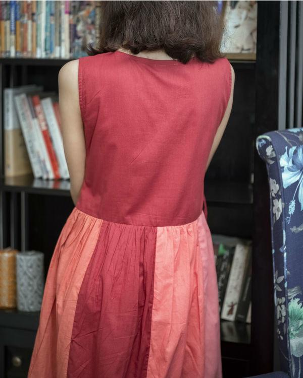 Multi Shade Red Summer Dress 1