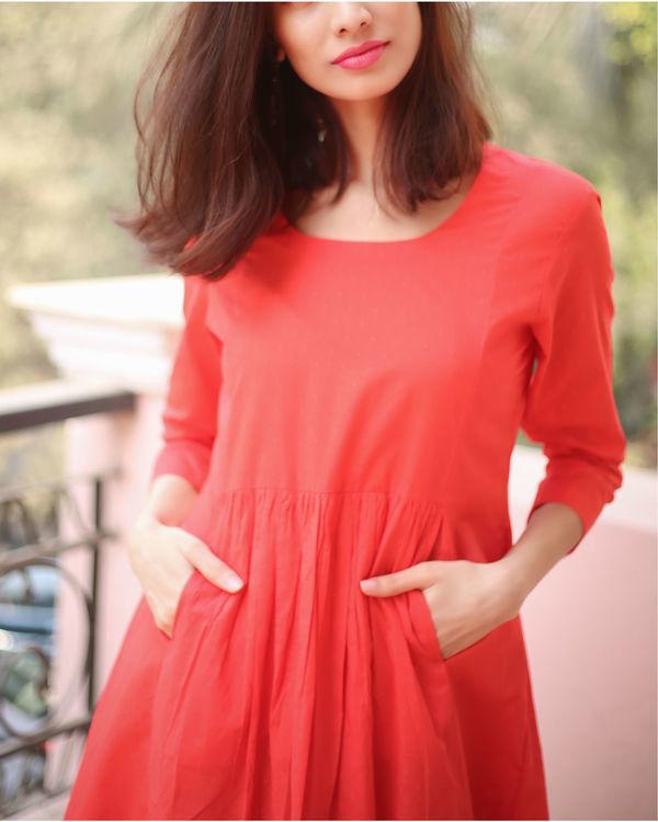 Textured Red Maxi Dress 1