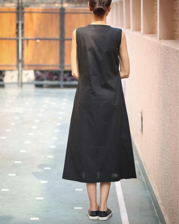 Black Keyhole Neckline Dress 1
