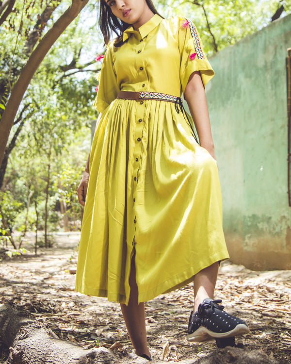 Lemon tassel midi dress 2