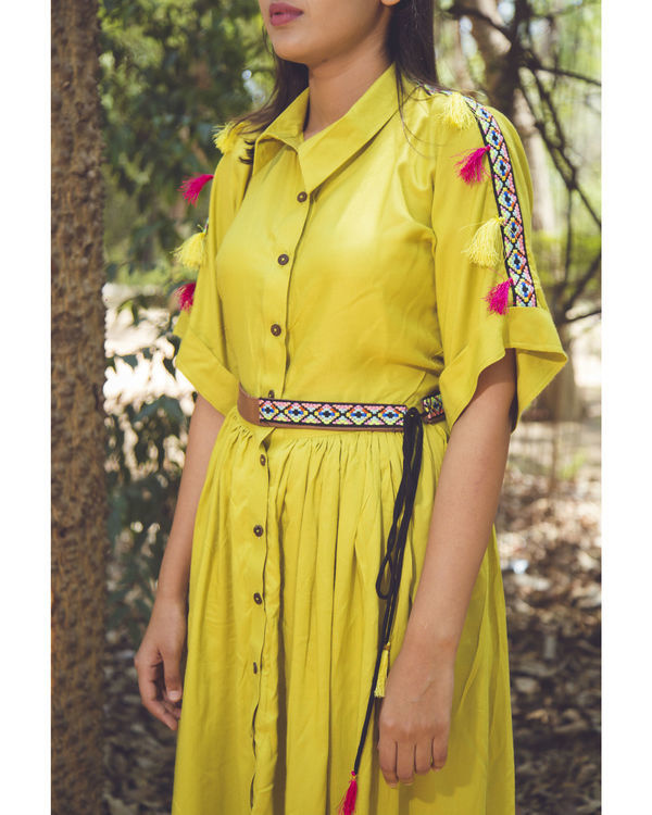 Lemon tassel midi dress 1