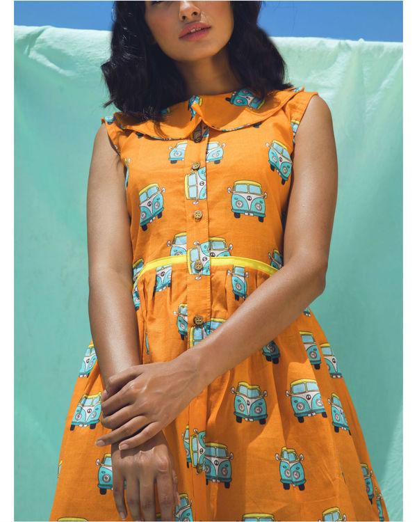 Orange van dress 1