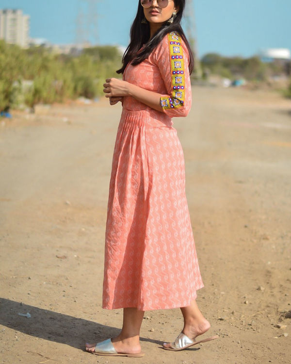 Peach orchid maxi dress 2