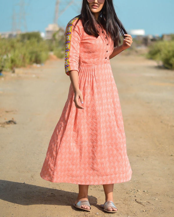 Peach orchid maxi dress 1