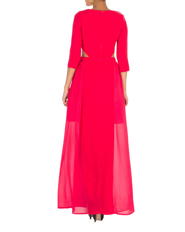 Haley cut out maxi pink 1