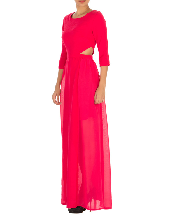 Haley cut out maxi pink 2