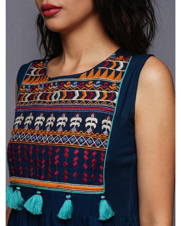 Tasseled short dress 1