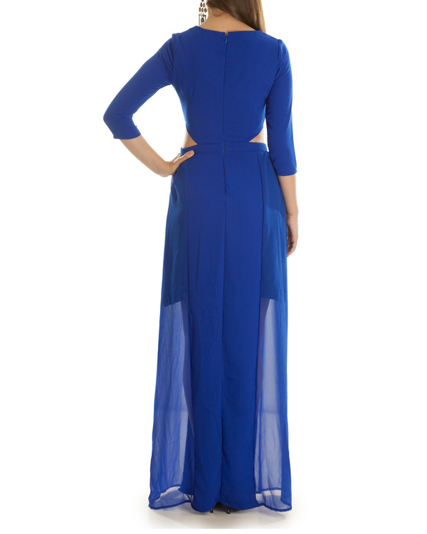 Haley Cut Out Blue Maxi Dress 1