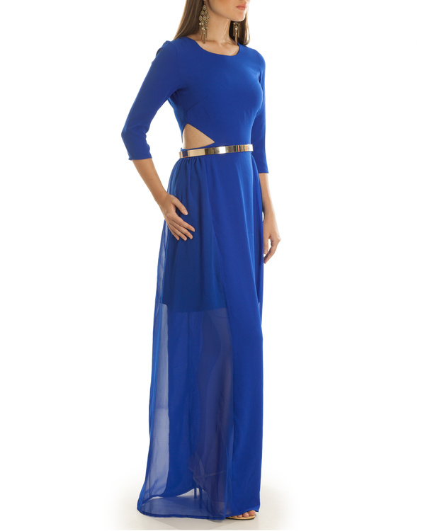 Haley Cut Out Blue Maxi Dress 2