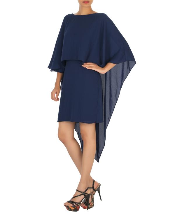 Ariel cape dress navy 2
