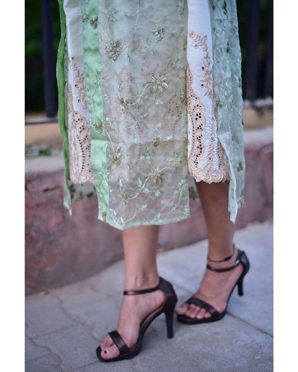 Organza cape dress 1