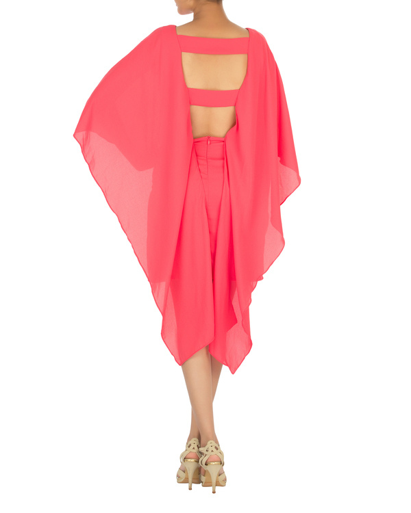Ariel cape dress pink 1