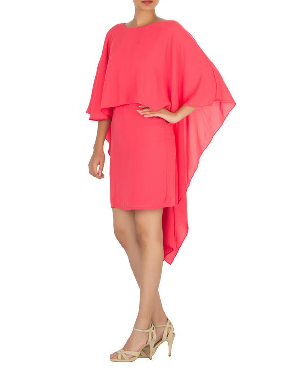 Ariel cape dress pink 2