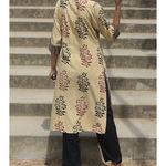 Thumb beige mughal kurta 4
