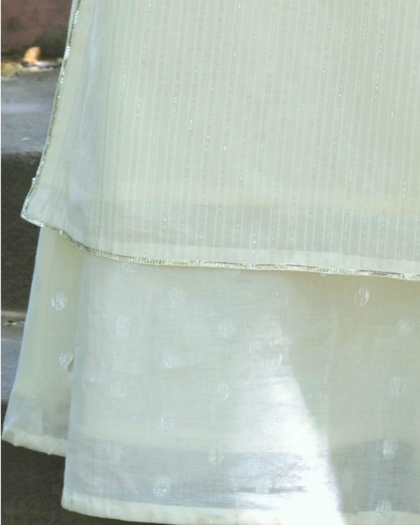 White gota double dress 1