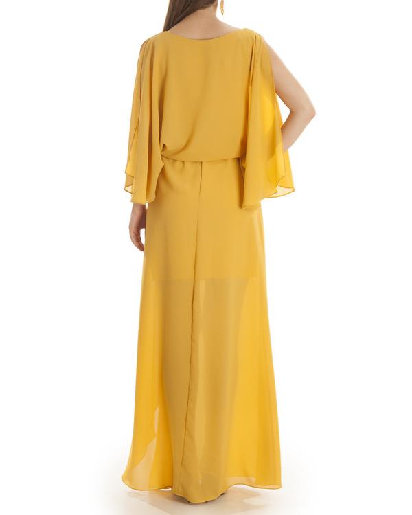 Mustard Grace draped dress 1