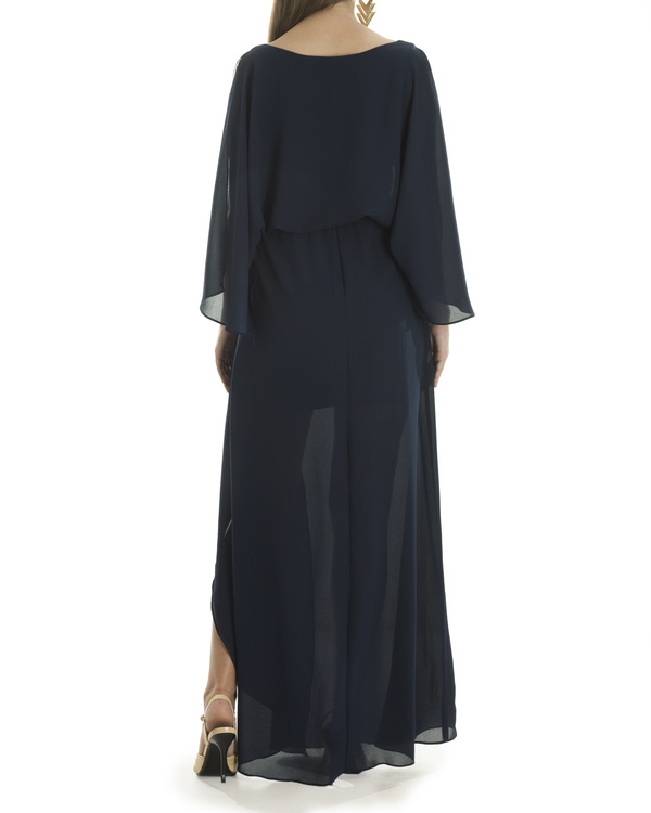 Navy Grace draped dress 1