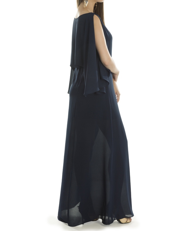 Navy Grace draped dress 2