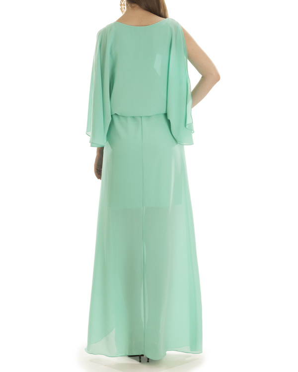 Turquoise Grace Draped Dress 1