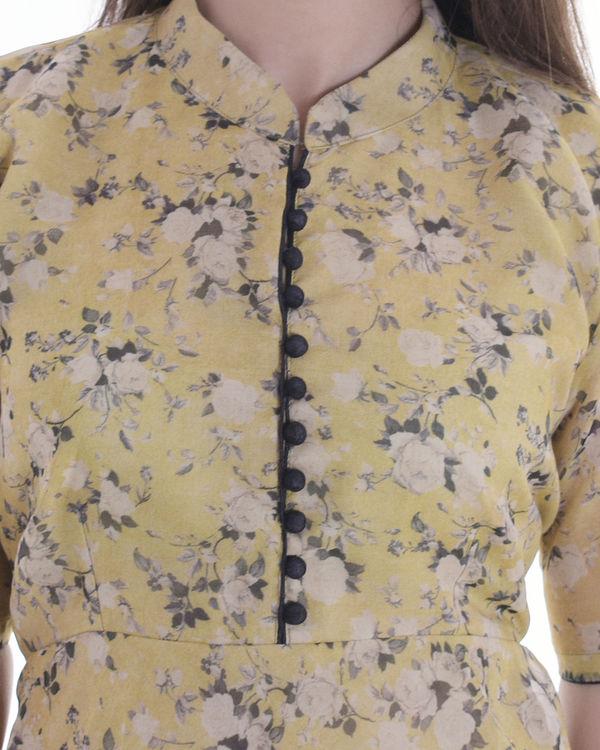 Black floral organza dress 1