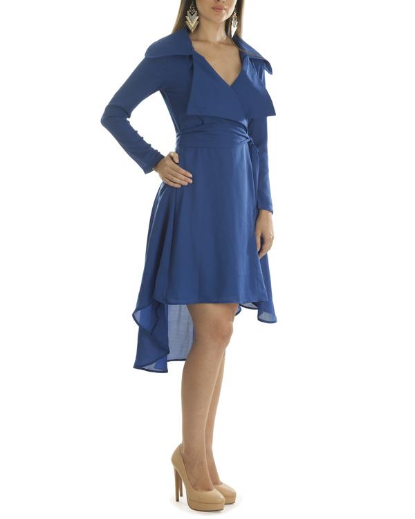 Olivia blue coat dress 2