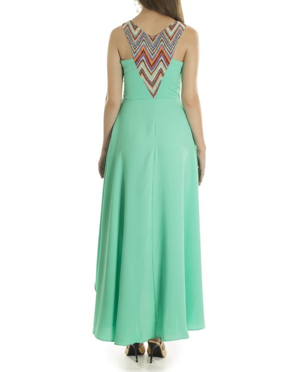 Liz hi low turquoise dress 1