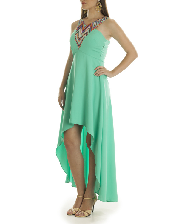 Liz hi low turquoise dress 2