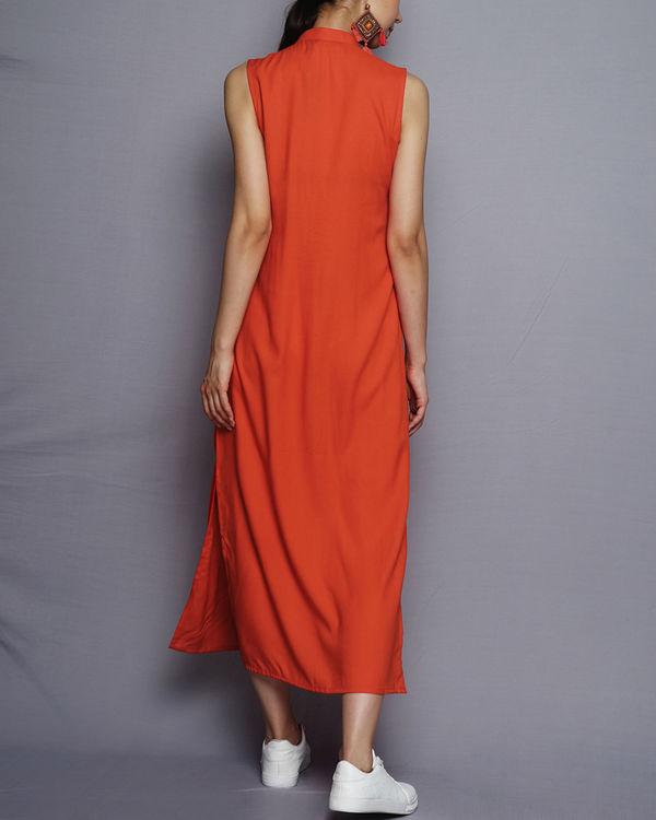 Front open orange kurta 2