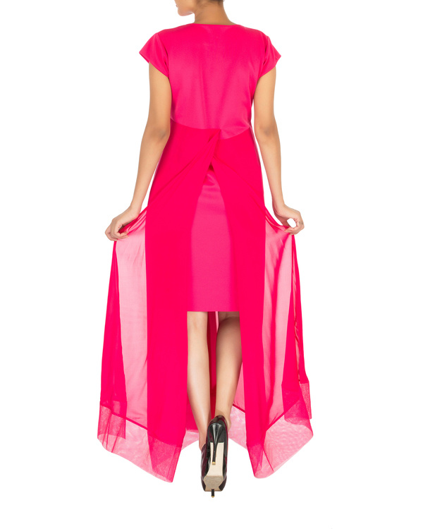 Two panelled pink gown 1