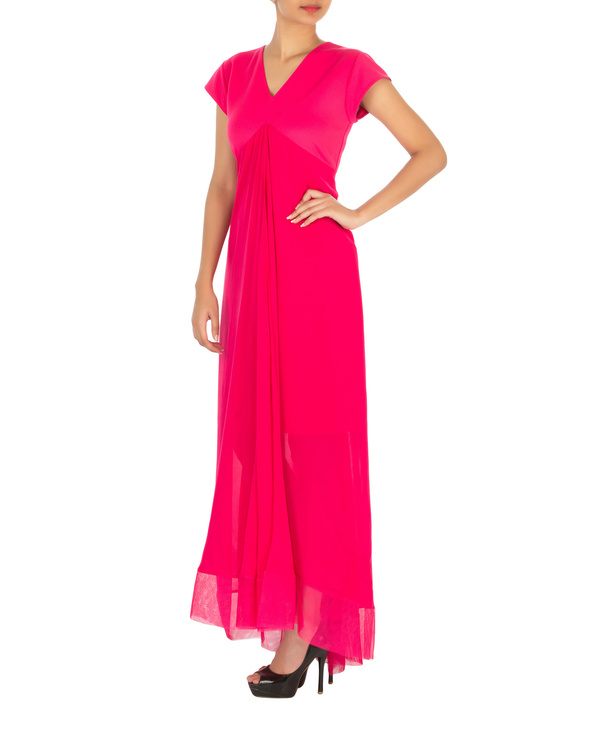 Two panelled pink gown 2