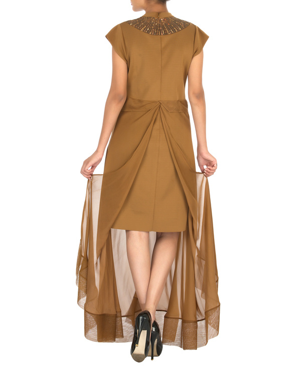 Two panelled brown gown 1