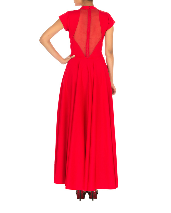 Red gown with straight fit 1