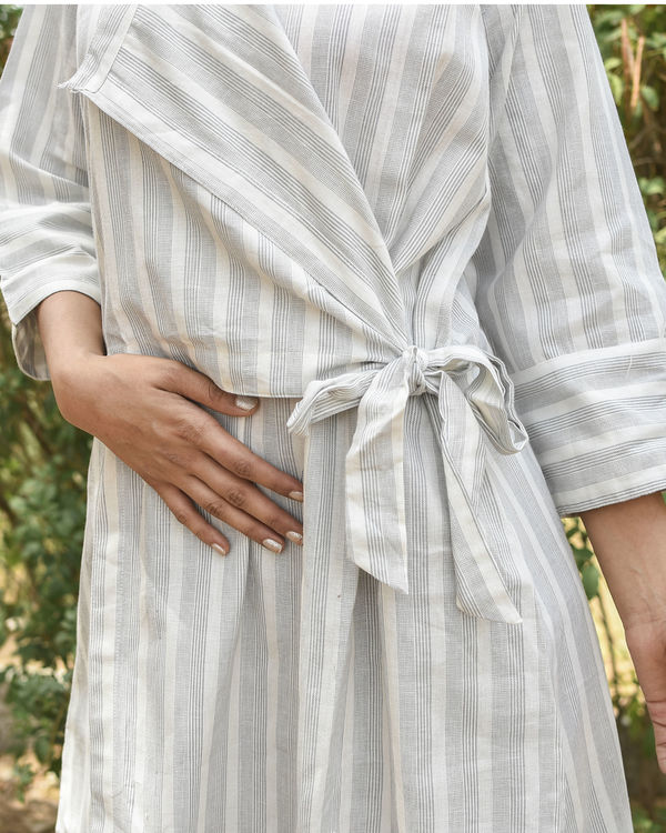 Off white side tie up dress 2