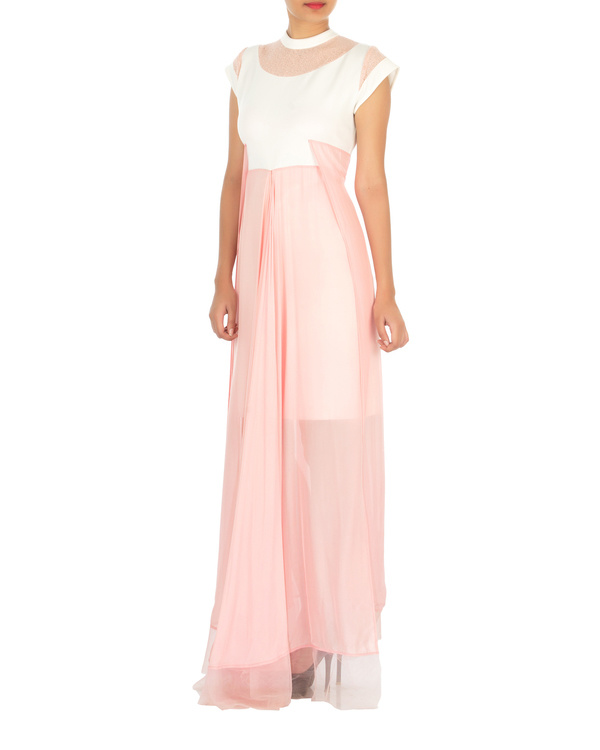 Four panelled white and pink gown 2