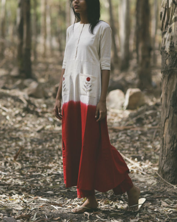 Red Mogra Pocket Dress 3
