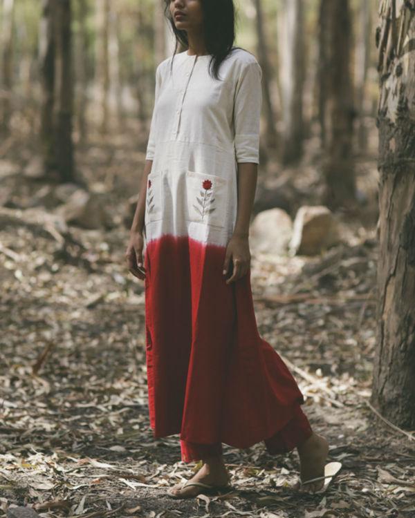 Red Mogra Pocket Dress 1