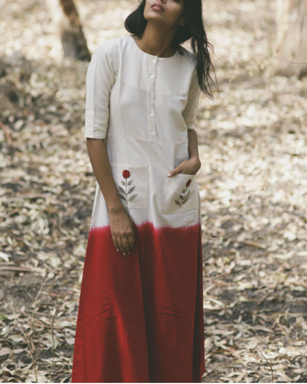 Red Mogra Pocket Dress 2