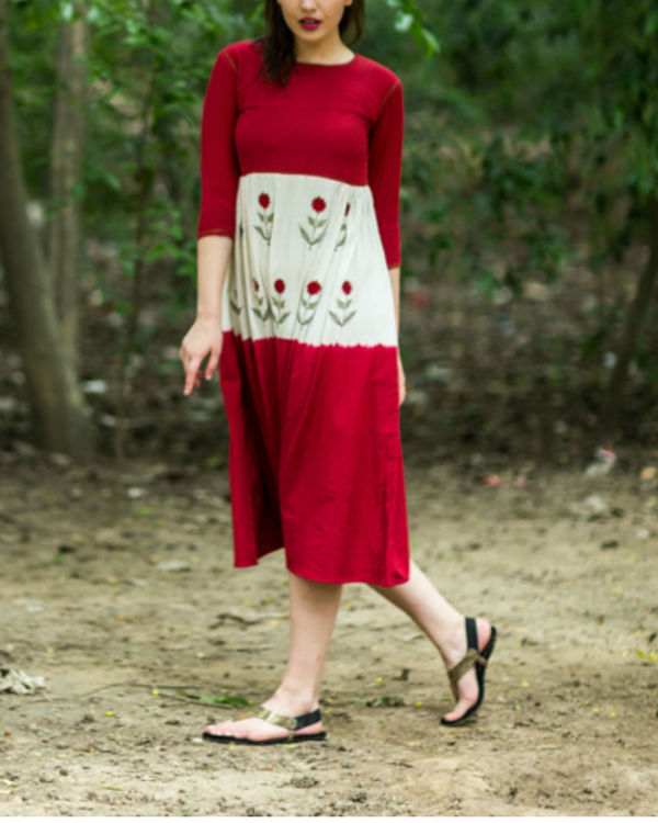Red Mogra Swing Dress 1