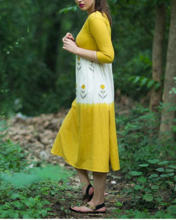 Mustard Ivory Swing Dress 2