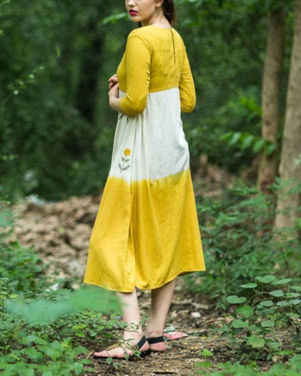Mustard Ivory Swing Dress 1