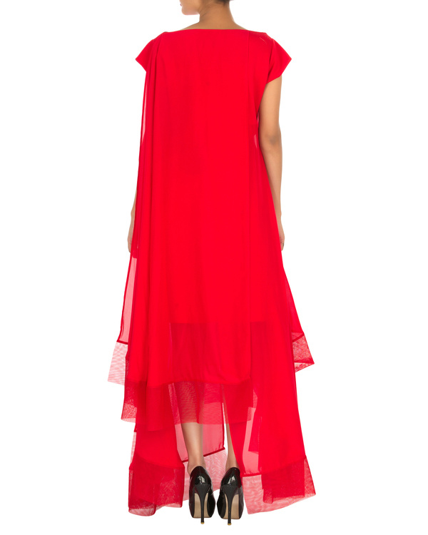 Four panelled red gown 1